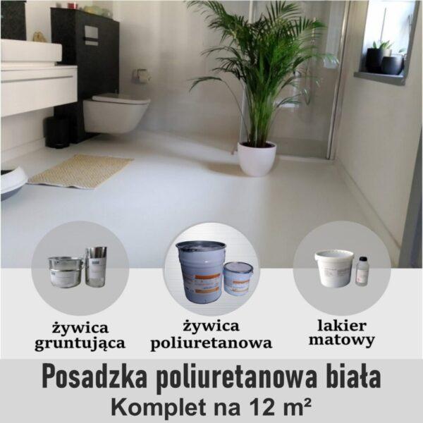 podłoga poliuretanowa biała